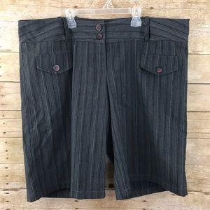 Torrid Gray Striped Shorts